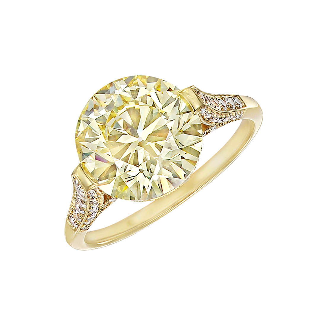 4.62ct Fancy Yellow Diamond Ring (VVS2)