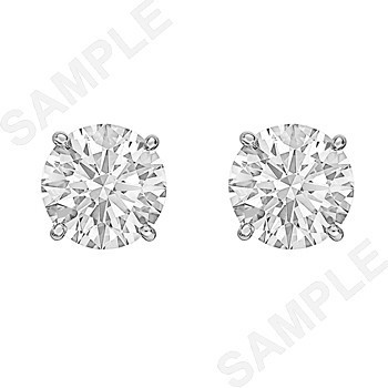 Round Brilliant Diamond Stud Earrings (4.90 ct tw)