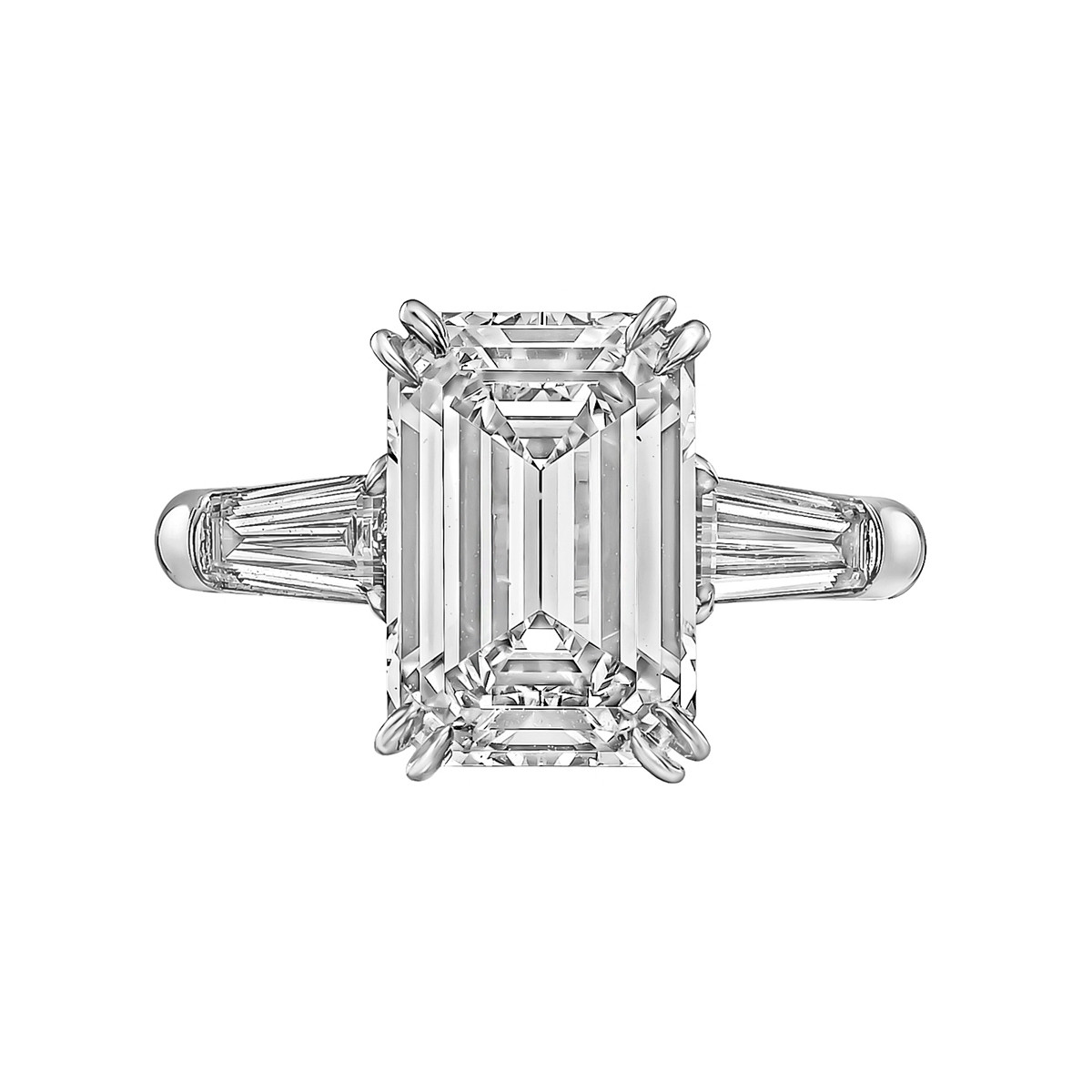 4.17ct Emerald-Cut Diamond Ring (G/VVS1)