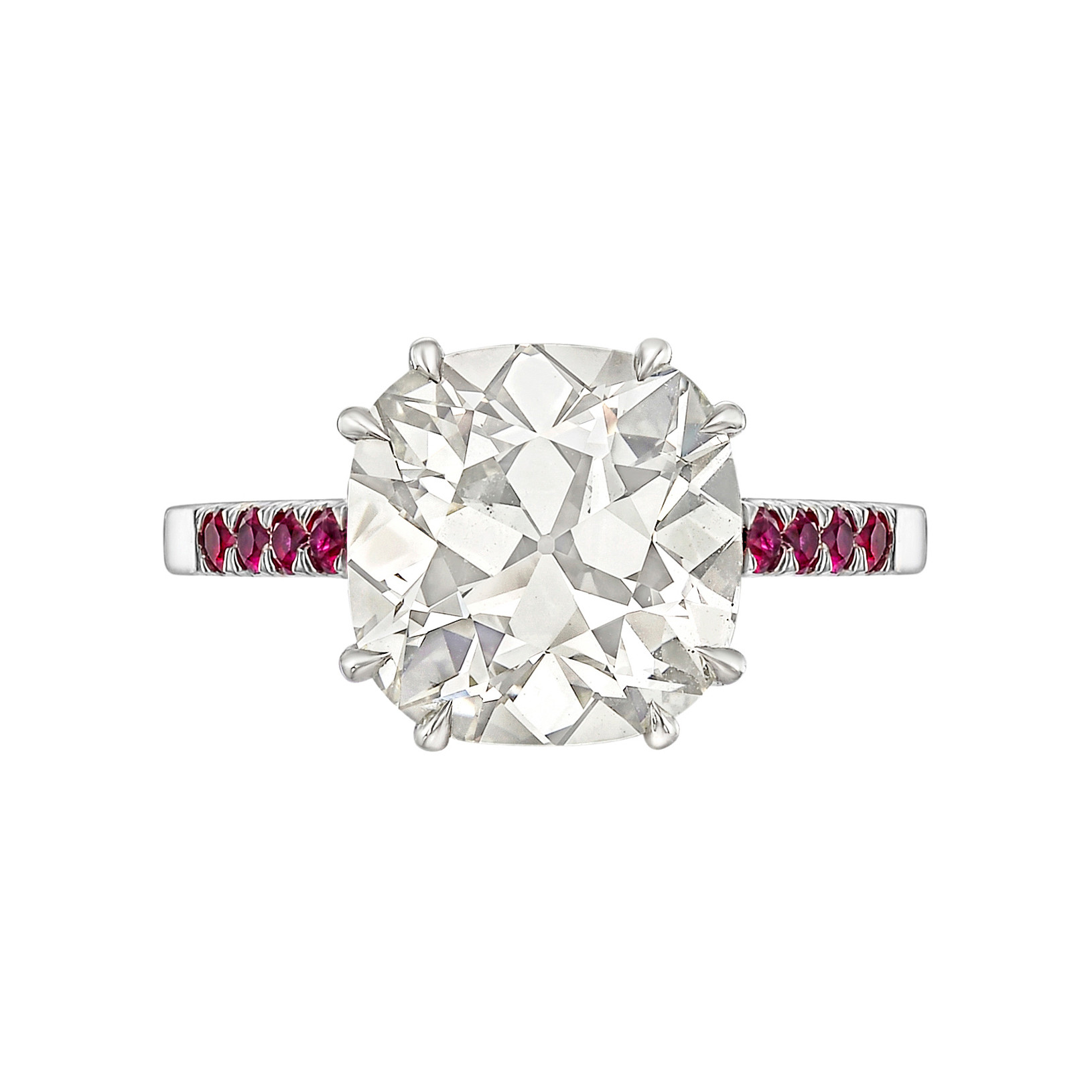4.44ct Cushion-Cut Diamond Ring