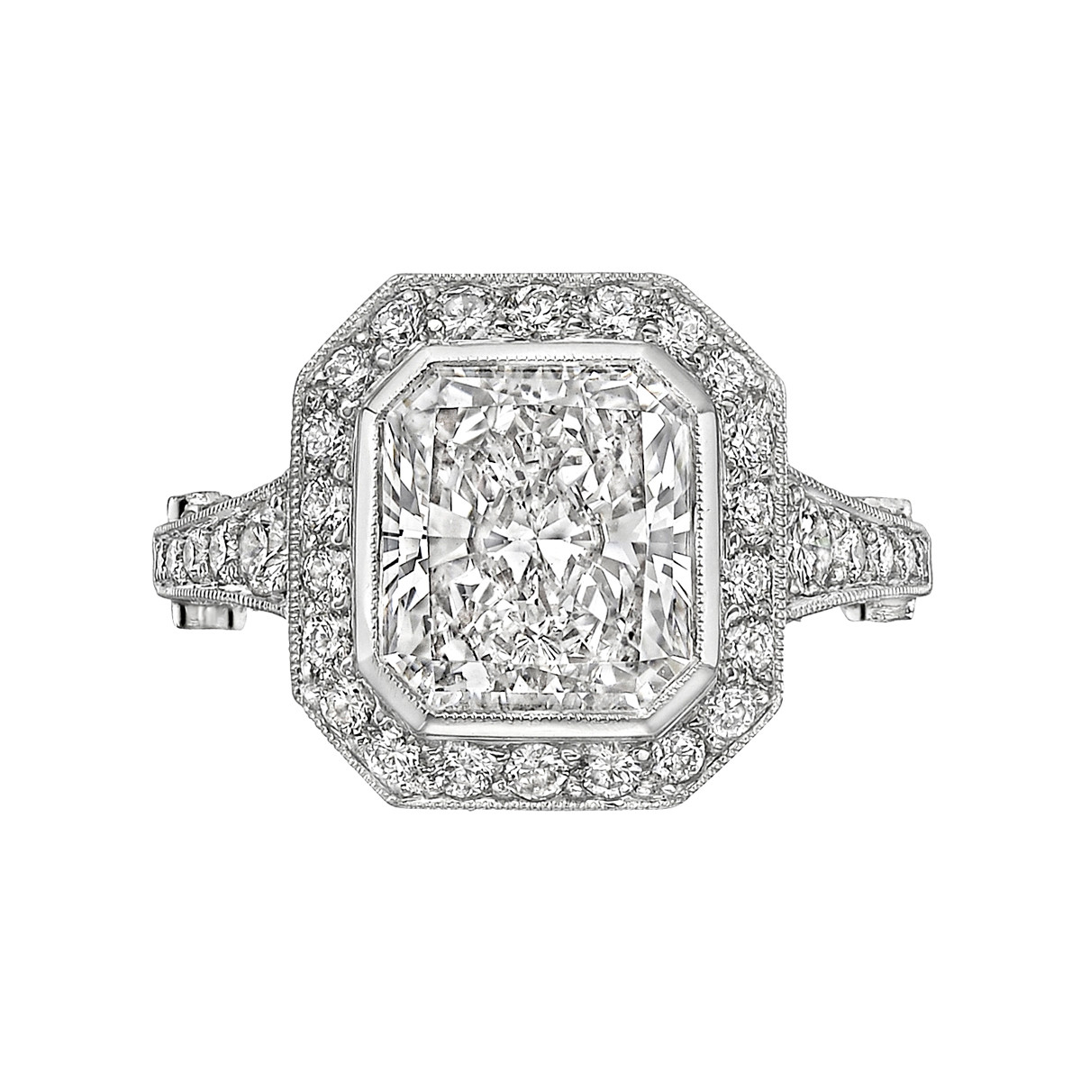 4.15ct Radiant-Cut Diamond Ring (F/SI1)