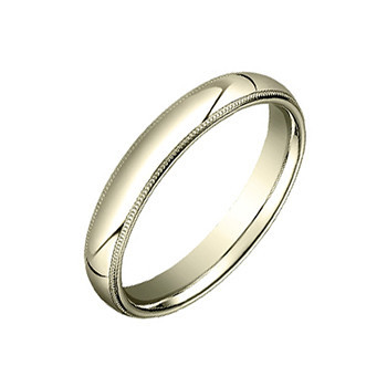 18k Yellow Gold Milgrain Wedding Band (4mm)