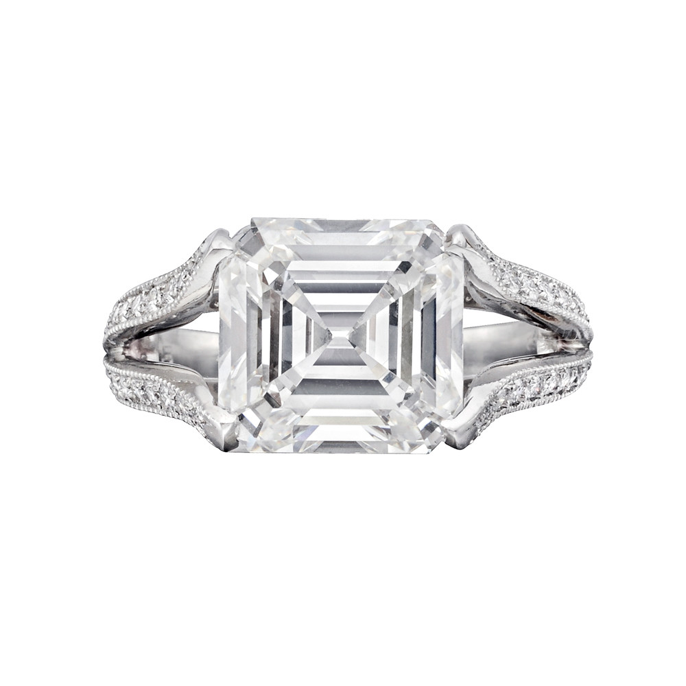 5.05ct Square Emerald-Cut Diamond Ring (I/VS2)