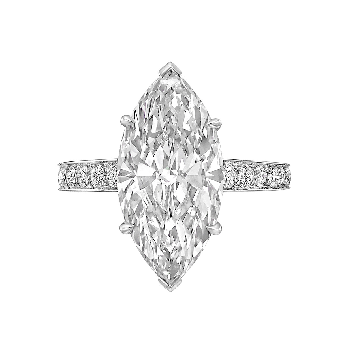 5.06ct Fine Colorless Marquise-Cut Diamond Ring
