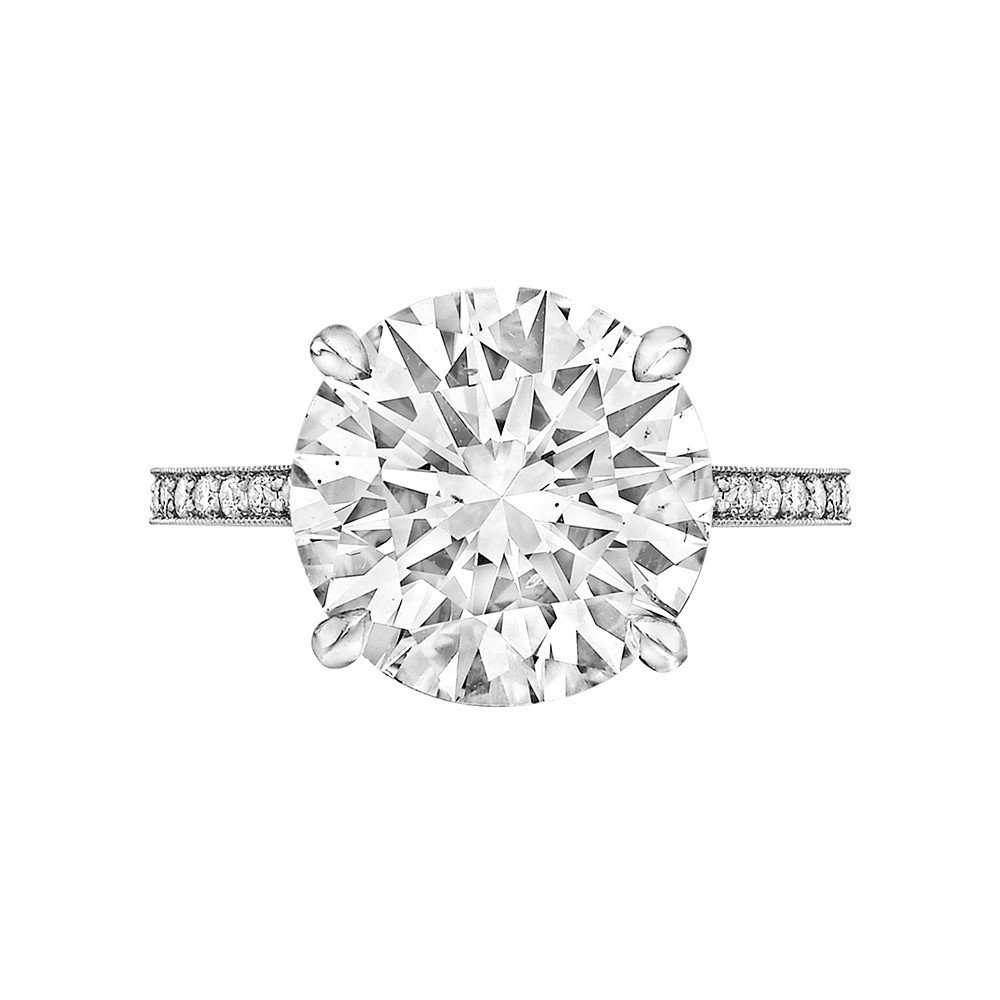 5.01 Carat Round Brilliant Diamond Ring
