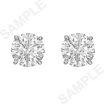5.02tcw Round Brilliant Diamond Stud Earrings (F/SI1)