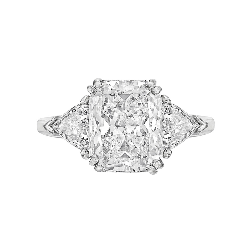 5.04ct Fine Colorless Radiant-Cut Diamond Ring