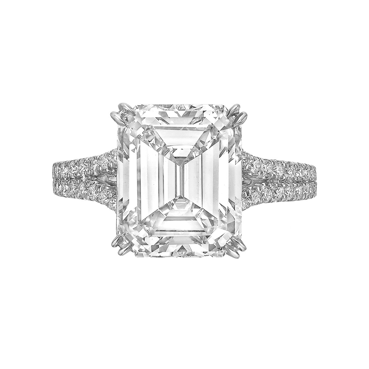 5.14ct Emerald-Cut Diamond Ring (F/VS1)