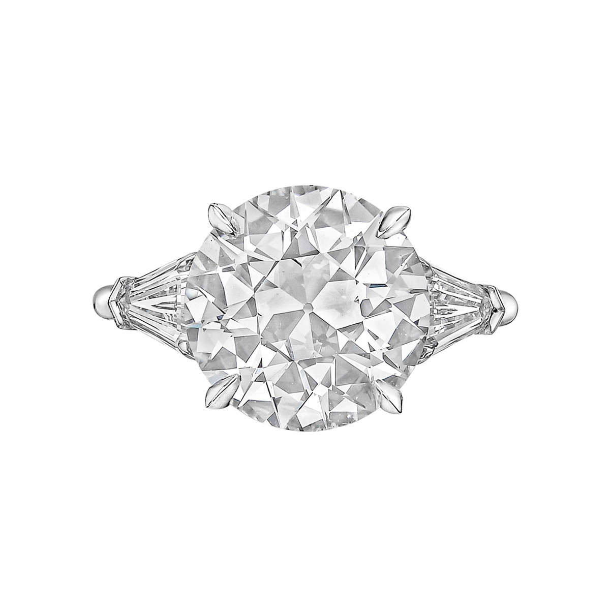5.22ct Old European Brilliant Diamond Ring (F/SI1)