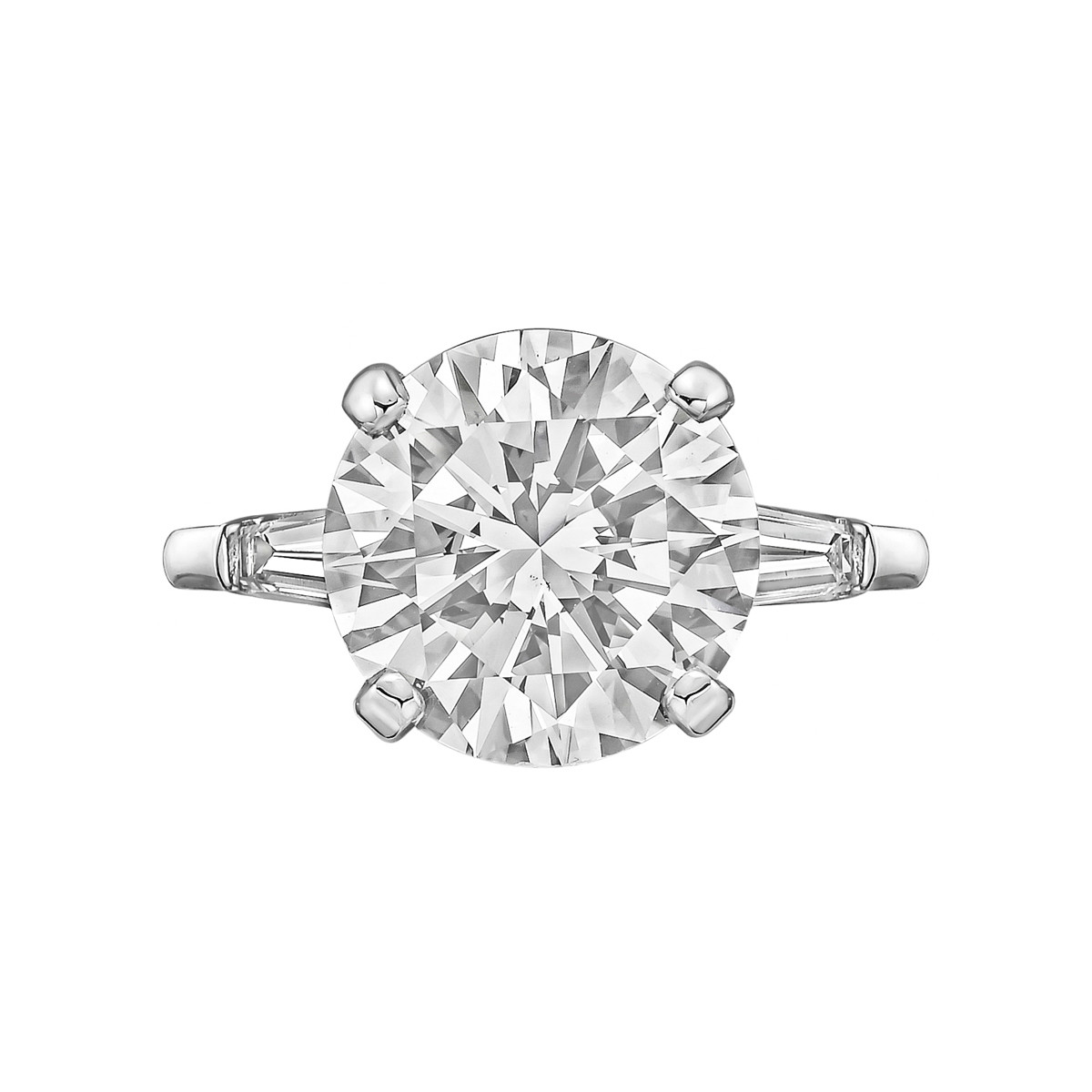 5.25ct Round Brilliant Diamond Ring (H/VS2)
