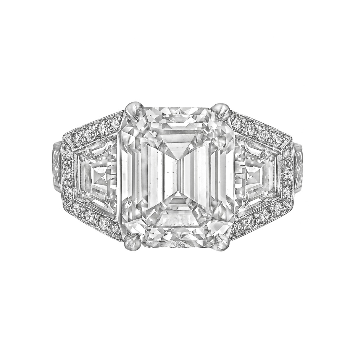 5.62ct Emerald-Cut Diamond Ring (F/VVS2)