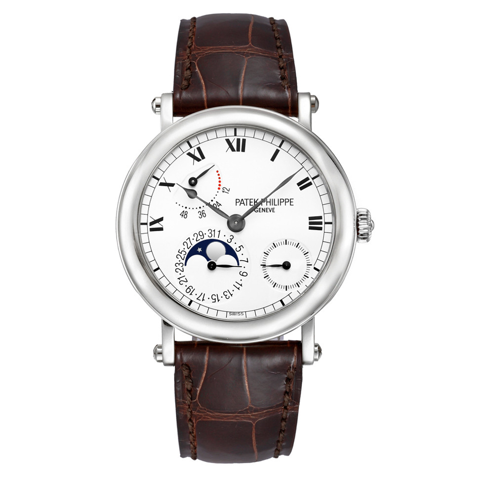 Moon Phase/Power Reserve White Gold (5054G)