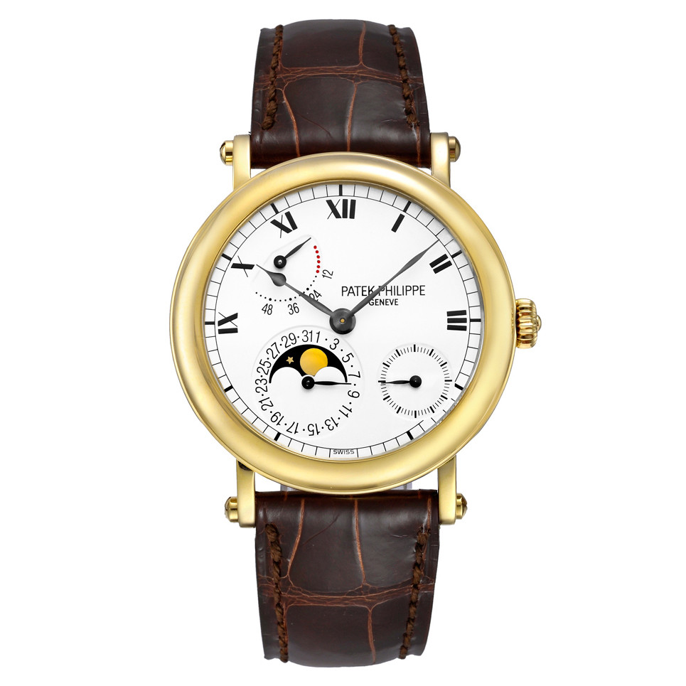 5054j Pre Owned Patek Philippe Moon Phase Power Reserve