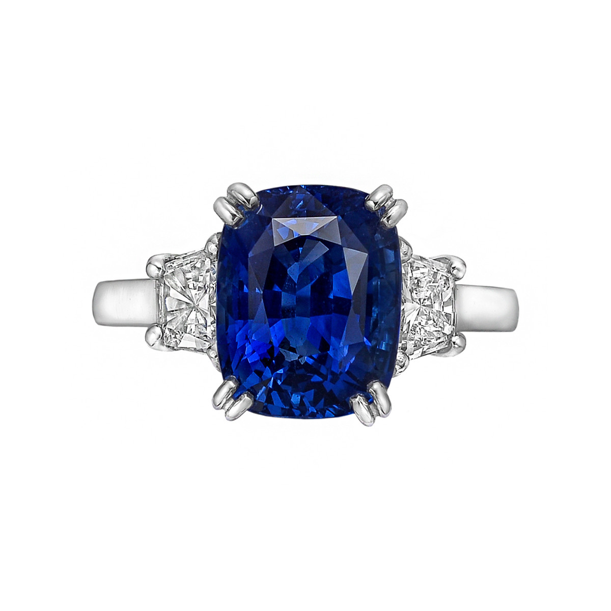 5.03ct No-Heat Sapphire & Diamond Ring