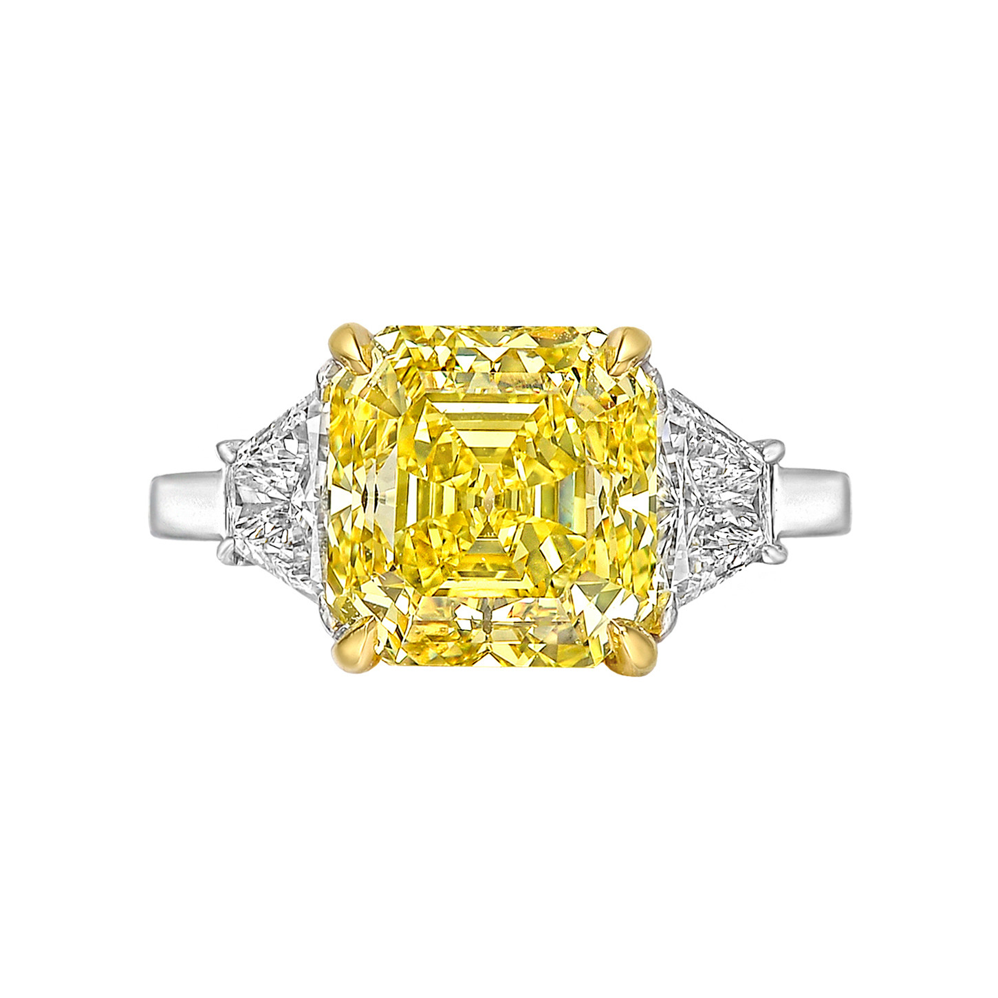 5.03ct Fancy Vivid Yellow Diamond Ring
