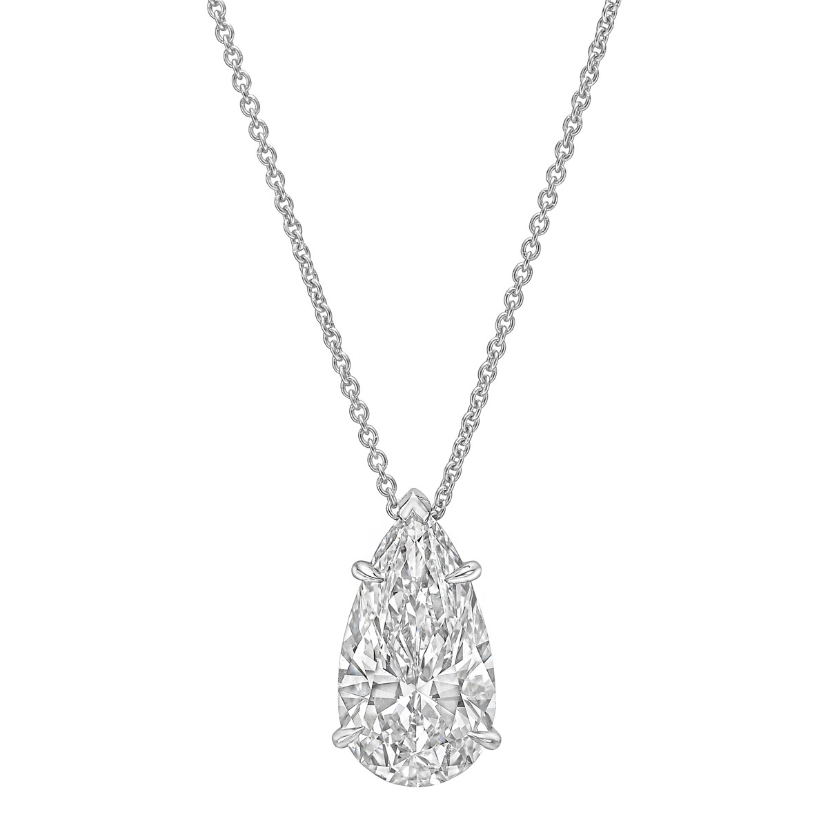 5.07ct Pear-Shaped Diamond Solitaire Pendant