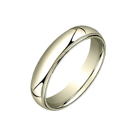 18k Yellow Gold Milgrain Wedding Band (5mm)