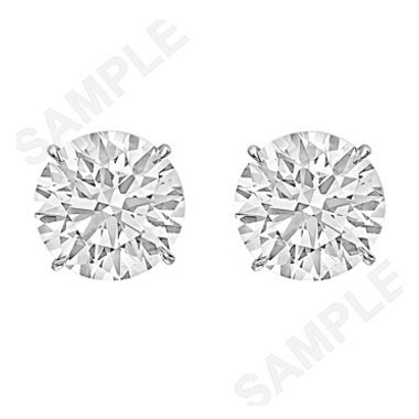 6.42tcw Round Brilliant Diamond Stud Earrings (G/VS2)