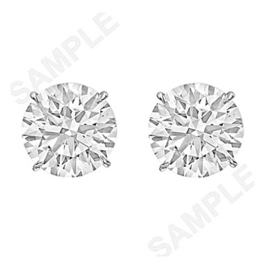 6.04tcw Round Brilliant Diamond Stud Earrings (H/VS2)