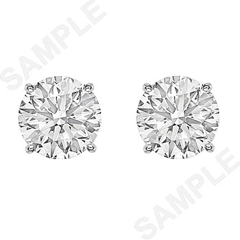 Round Brilliant Diamond Stud Earrings (6.02ct tw)