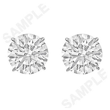 Round Brilliant Diamond Stud Earrings (7.01ct tw)