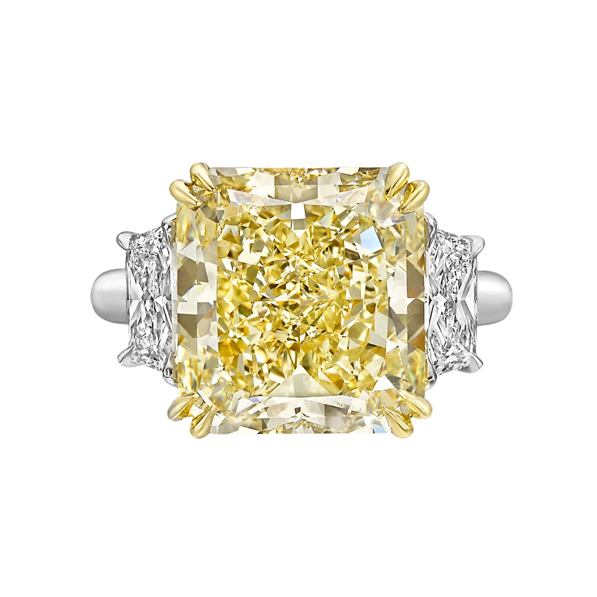 7.39ct Fancy Yellow Diamond Ring