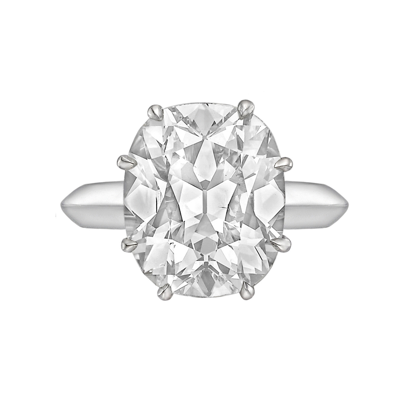7.47ct Cushion-Cut Diamond Solitaire Ring (I/SI2)