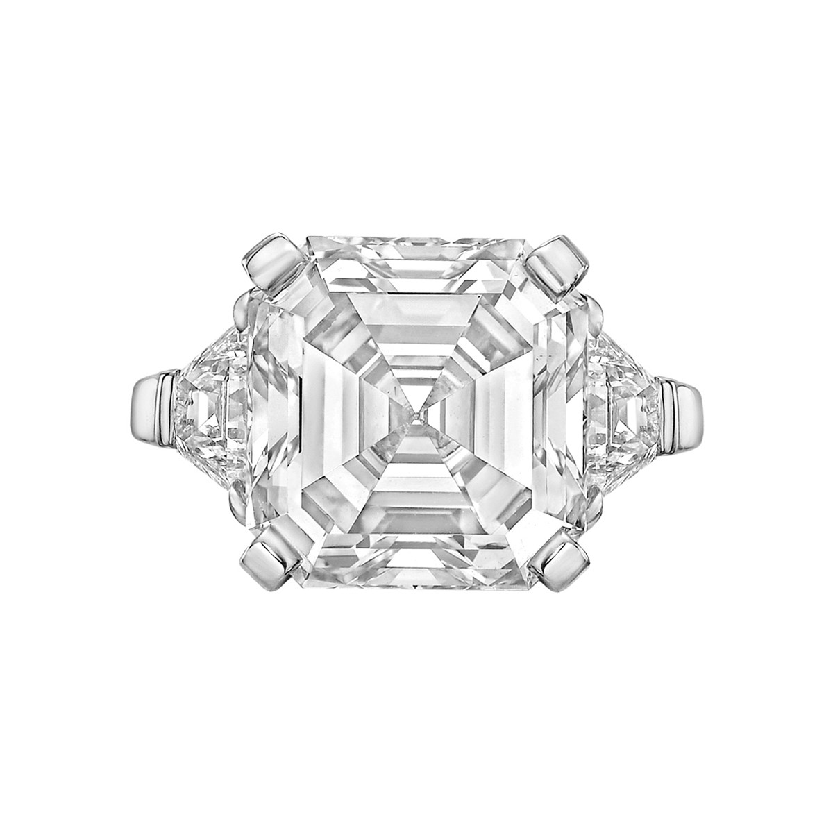 8.03 Carat Asscher-Cut Diamond Ring