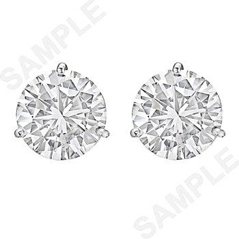 Round Brilliant Diamond Stud Earrings (8.10 ct tw)