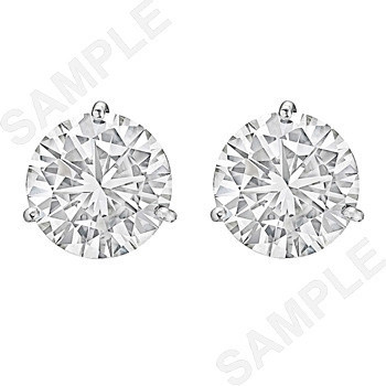 8.07tcw Round Brilliant Diamond Stud Earrings (I/SI2)