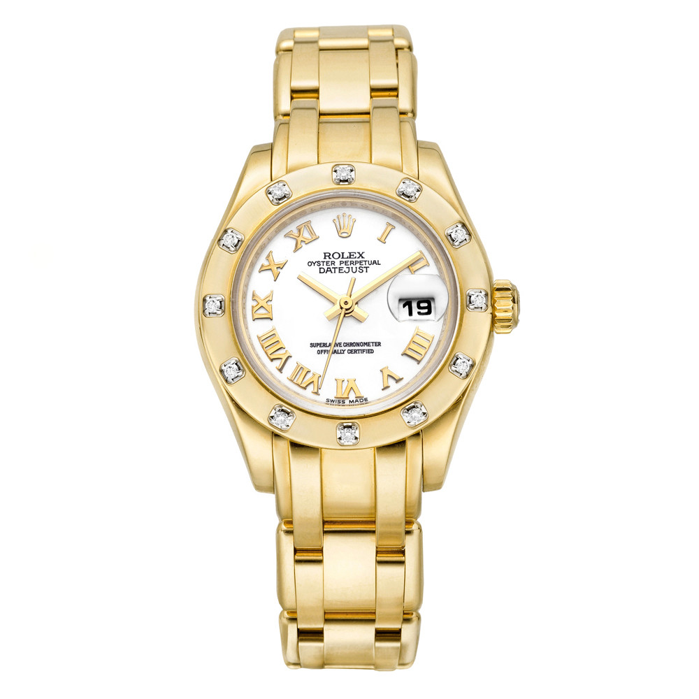 Ladies' Pearlmaster Datejust Yellow Gold (80318)