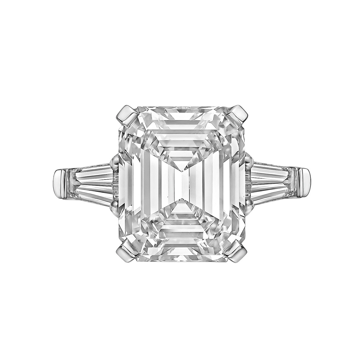 8.06ct Emerald-Cut Diamond Ring (H/VS2)