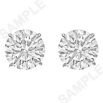10.40tcw Round Brilliant Diamond Stud Earrings (J/SI1)