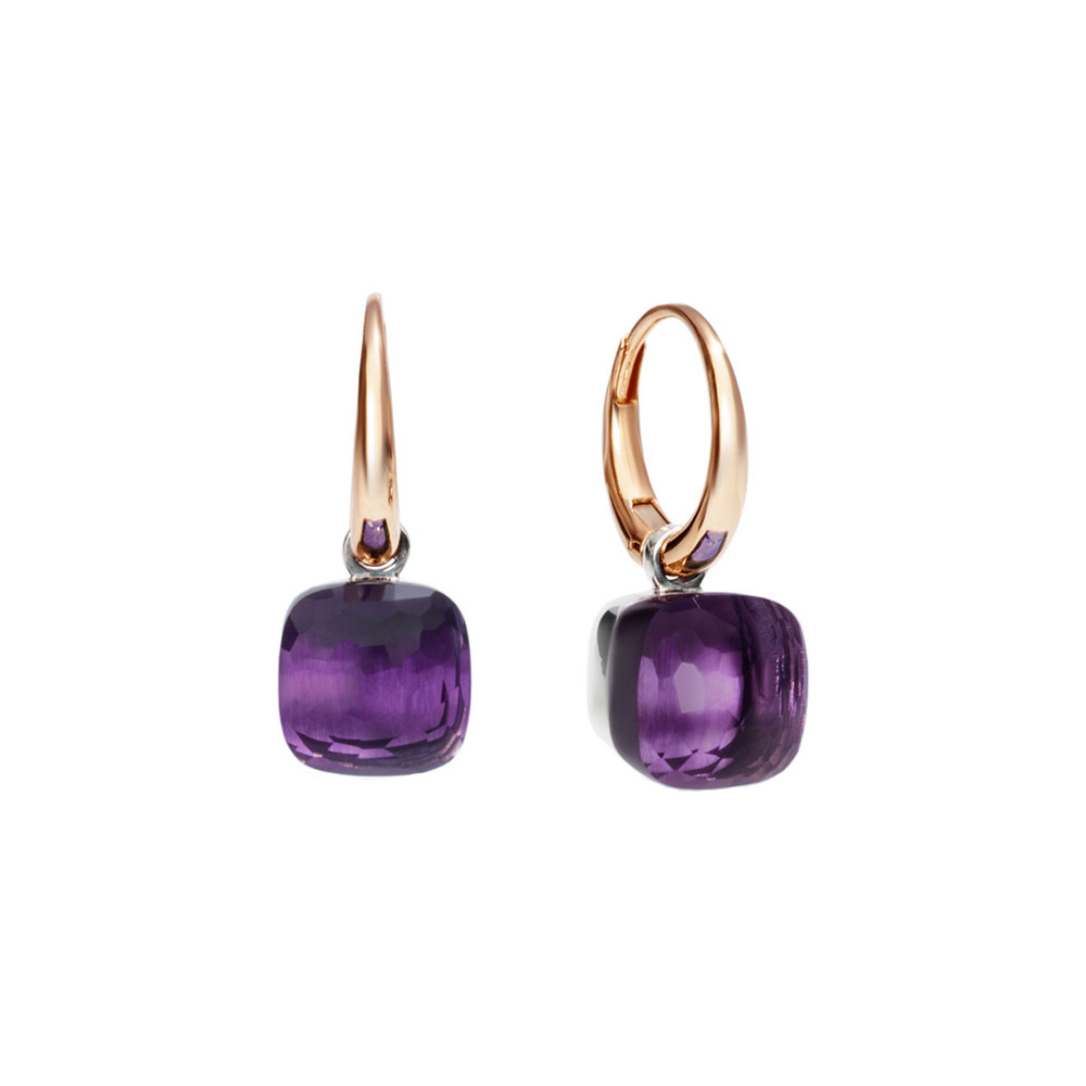 "Small Amethyst ""Nudo"" Earrings"