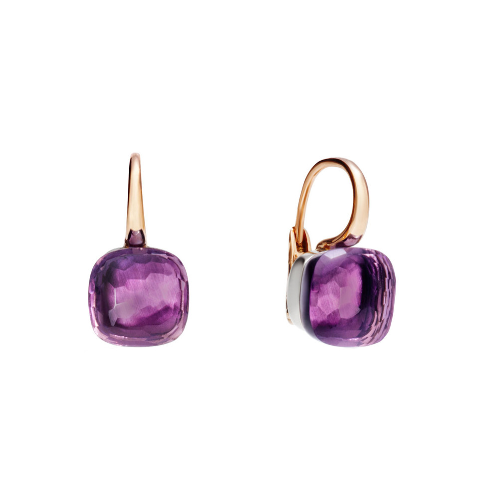 "Amethyst ""Nudo"" Drop Earrings"