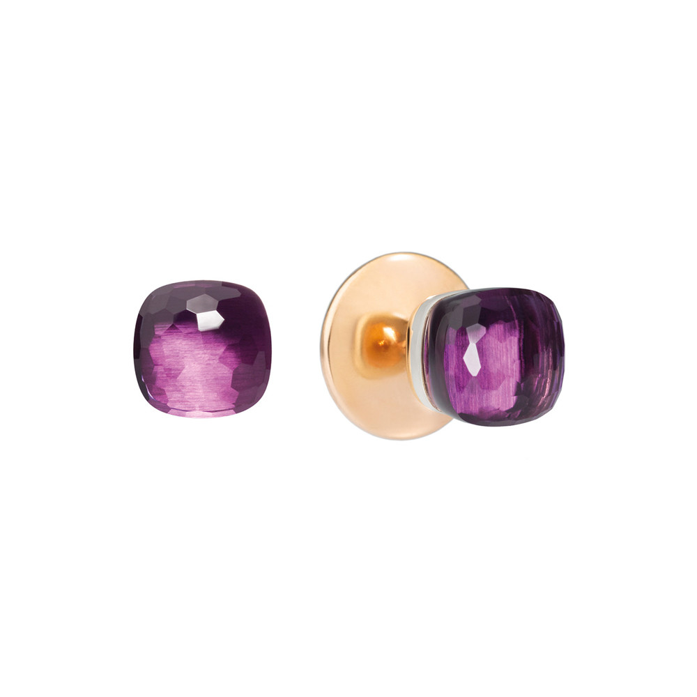 "Amethyst ""Nudo"" Stud Earrings"