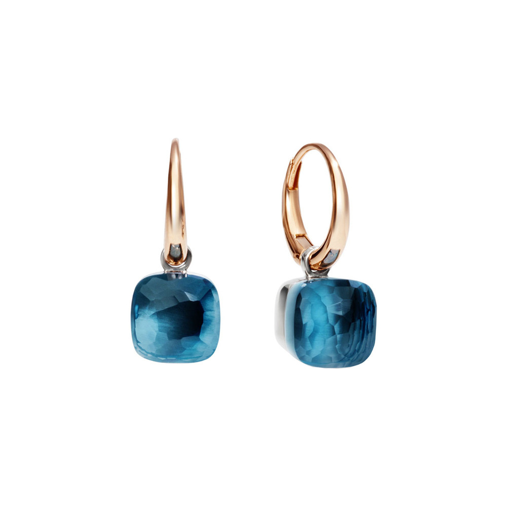"Small London Blue Topaz ""Nudo"" Earrings"