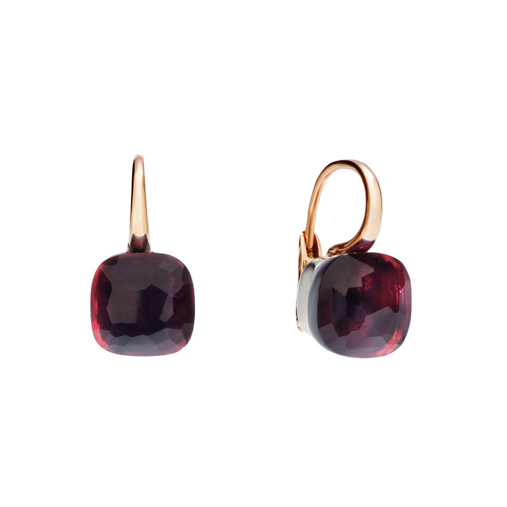 "Garnet ""Nudo"" Drop Earrings"