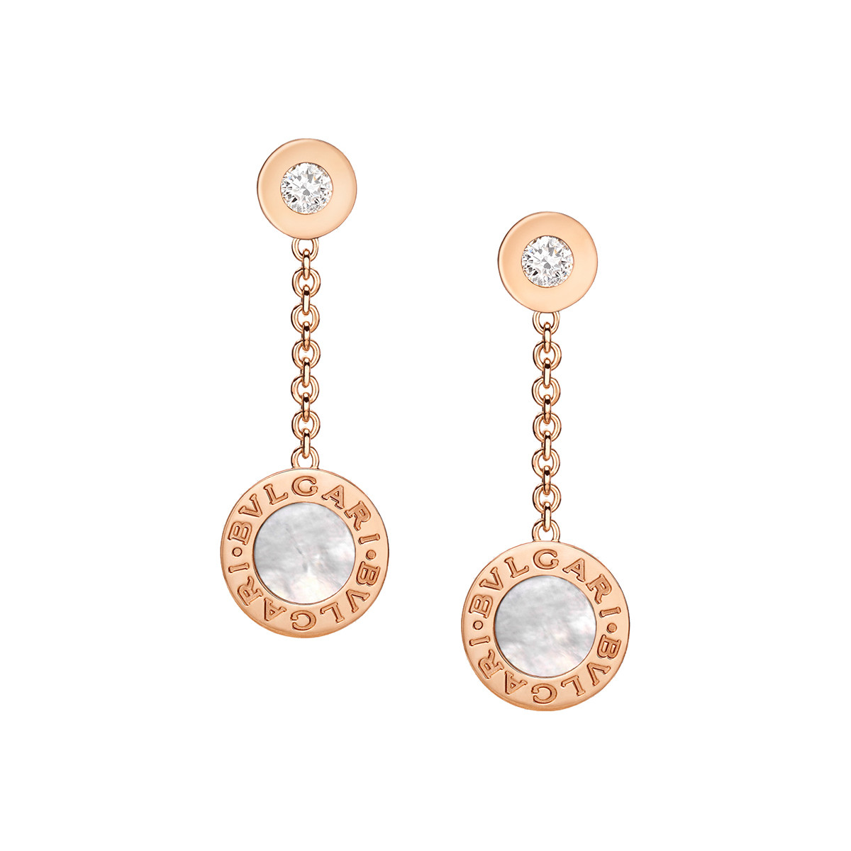 Mother-of-Pearl & Diamond Drop Earirngs