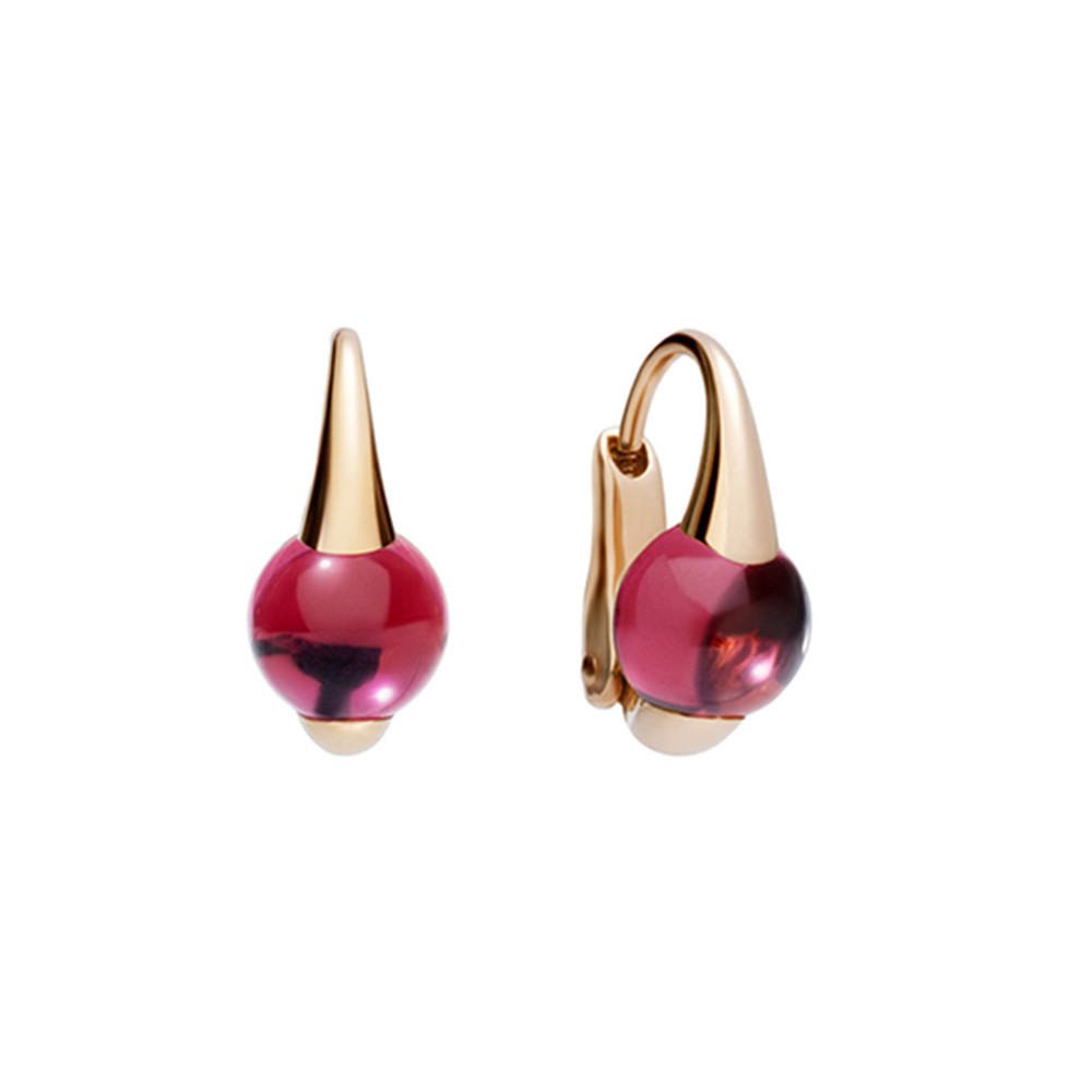 "Rhodolite Garnet ""M'ama Non M'ama"" Drop Earrings"