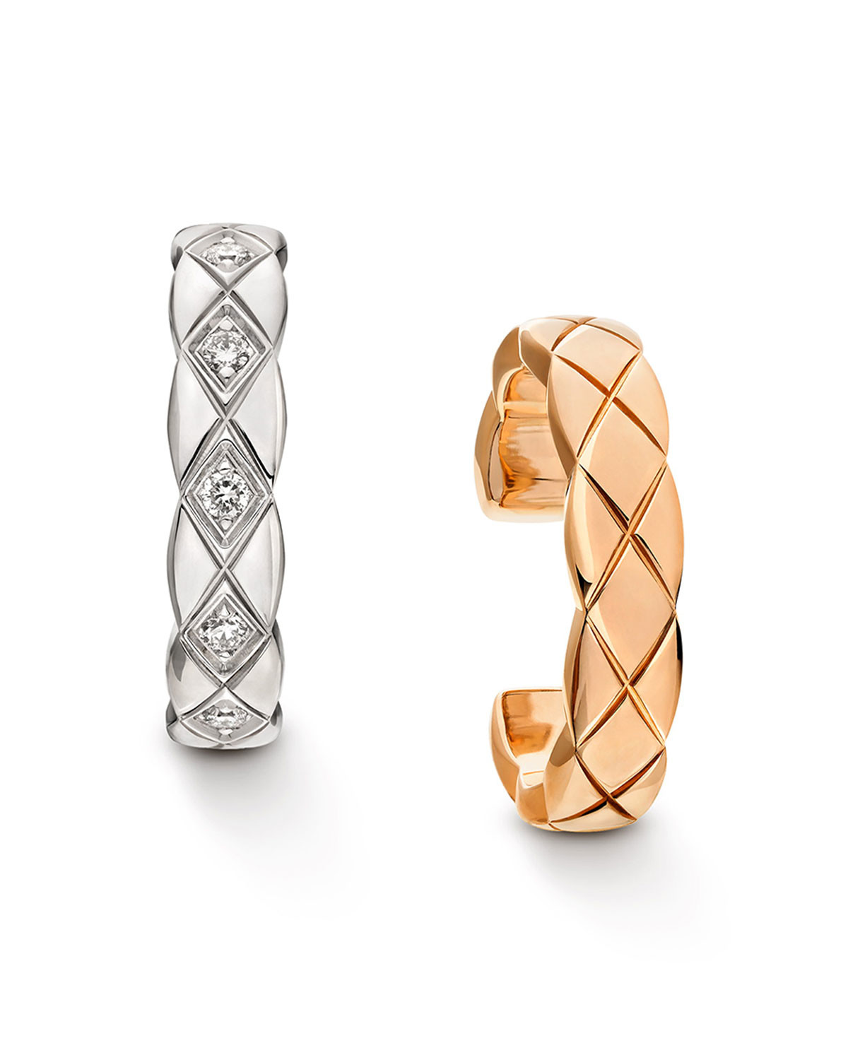 "18k Gold & Diamond ""Coco Crush"" Huggie Hoop Earrings"