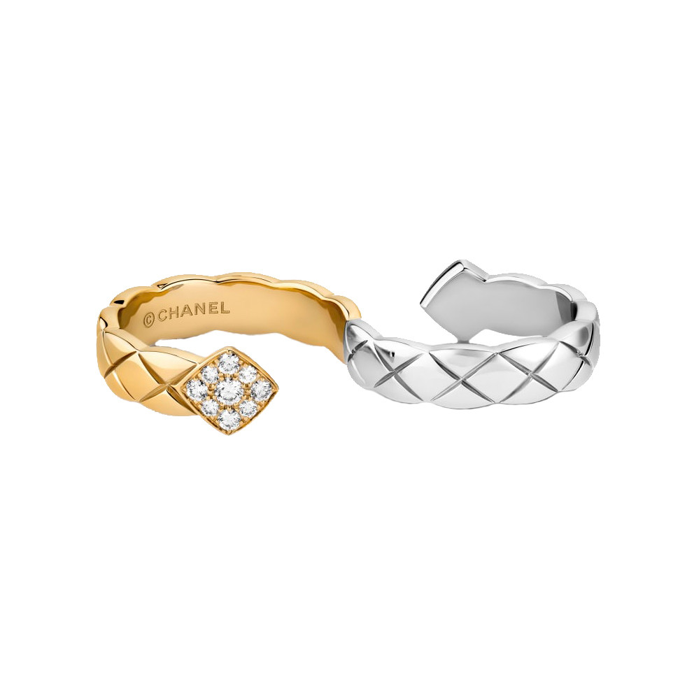 "18k Gold & Diamond ""Coco Crush"" 2-Finger Ring"