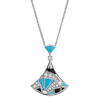 "Turquoise, Onyx & Diamond ""Divas' Dream"" Pendant"
