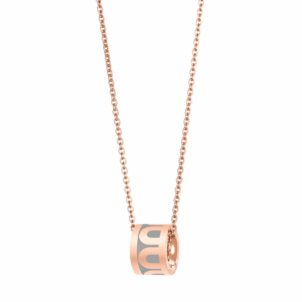 "18k Rose Gold & Anthracite Lacquer ""L'Arc"" Bead Pendant"