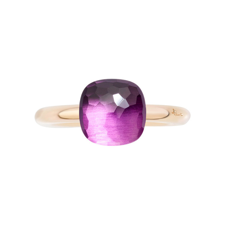 Small Amethyst Nudo Ring