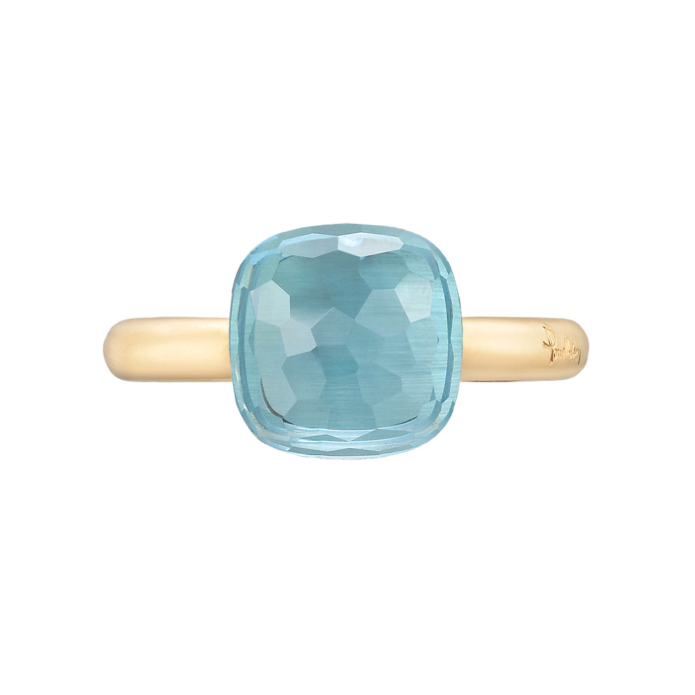 "Blue Topaz ""Nudo"" Ring"