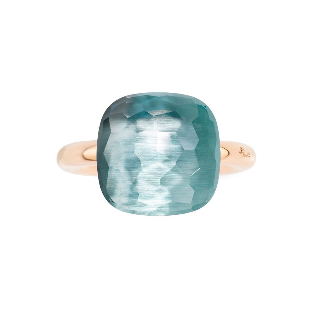 "Assoluto Blue Topaz ""Nudo"" Ring"