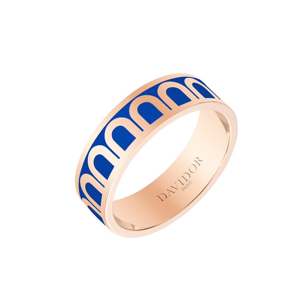 "18k Rose Gold & Riviera Lacquer ""L'Arc"" Medium Band"