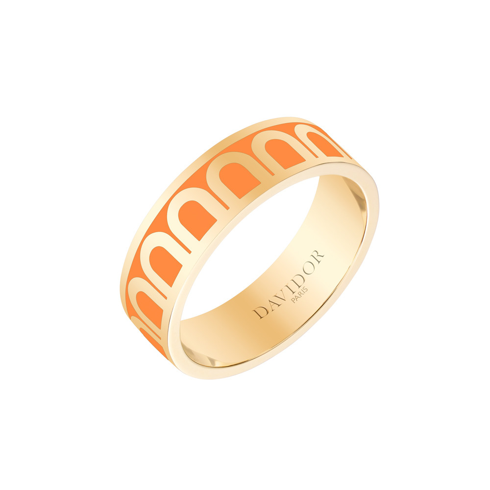 "18k Yellow Gold & Zeste Lacquer ""L'Arc"" Medium Band"