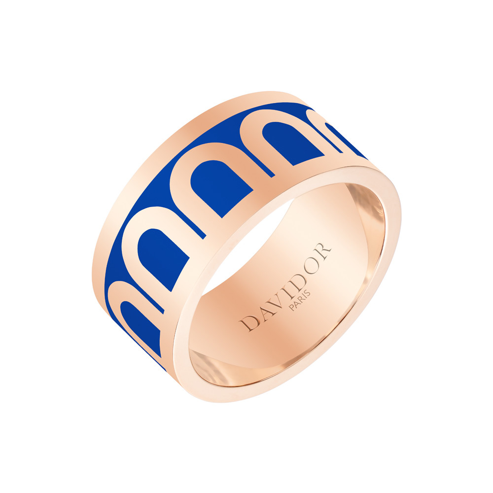 "18k Rose Gold & Riviera Lacquer ""L'Arc"" Wide Band"